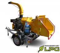 Powerful chipper with petrol and LPG engine on braked chassis LS 160 PGB