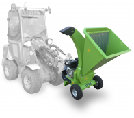 A tractor-mounted shredder intended for gardening and powered by the Kohler engine. LS 95/CH – tractor-mounted
