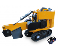 Stump cutter on crawler chassis with remote control P 26 R