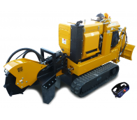 Stump cutter on tracked chassis with remote control P 50 RX
