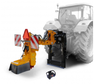 Tractor-mounted stump cutter with remote control  FZ 560 T - RC