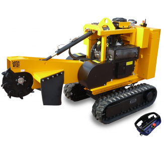 Stump cutter on tracked chassis with remote control P 38 R - EFI