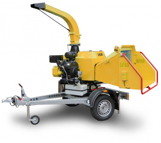 NEW compact wood chipper with braked chassis LS 160 PB