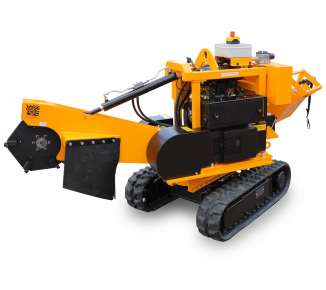Stump cutter on tracked chassis hand-operated with an environmentally-friendly engine with fuel injection. P 38 M - EFI