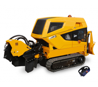 Stump cutter on tracked chassis with remote control   P 56 RX