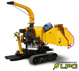 Powerful chipper on tracked chassis with petrol and LPG engine LS 160 PG Track