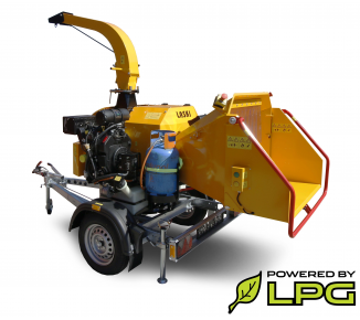 Powerful chipper with petrol and LPG engine on braked chassis (26,5 HP) LS 160 PGB