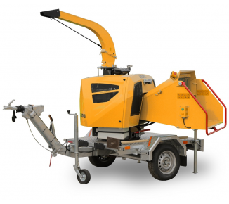 Powerful chipper on braked chassis with diesel engine and height-adjustable drawbar (25 HP) LS 160 DWBS