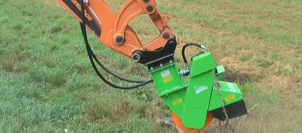 Jib-mounted stump cutter powered hydraulically    FZ 500 H