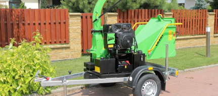 Chipper with unbraked chassis LS 100/27 C