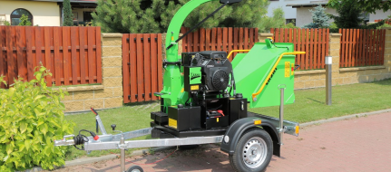 Chipper with braked chassis LS 100/27 CB