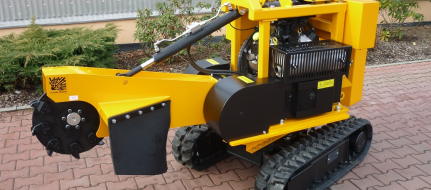 Stump cutter on crawler chassis with remote control P 38 R