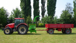Tractor-mounted chipper with swivel base and hitch for 8t trailers LS 200 T (750 ÷ 1000 rpm)